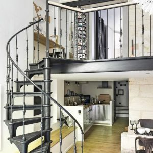 Vintage cast iron spiral staircase