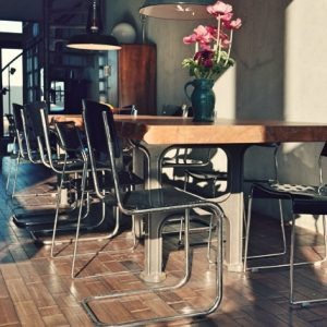 Table industrielle a Amsterdam